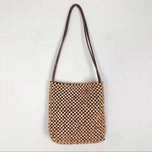 The Sak Wooden Bead Shoulder Bag